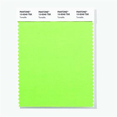 13-0240 TSX Tomatillo - Polyester Swatch Card