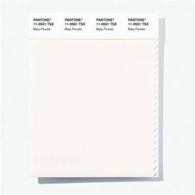 11-0501 TSX Baby Powder - Polyester Swatch Card