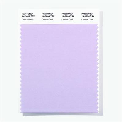 14-3606 TSX Celestial Dusk - Polyester Swatch Card